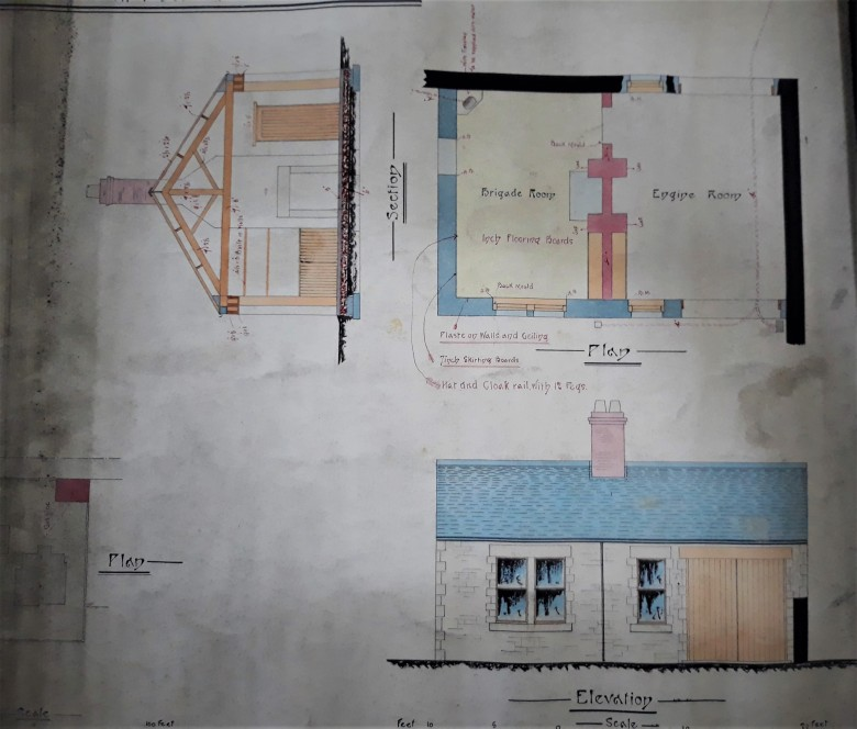 Original plans for old Gosforth Fire Brigade