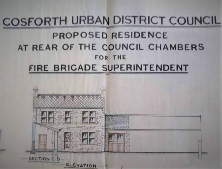 Plans for Gosforth Fire Brigade house.