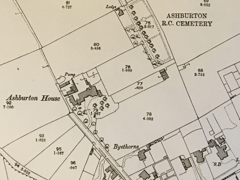 Old Map Ashburton Estate