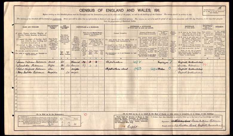 Census England and Wales Family History research