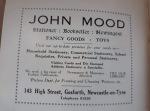 Advert for Jogn Mood Sationer in Gosforth