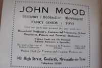 Advert for Jogn Mood Sationer in Gosforth