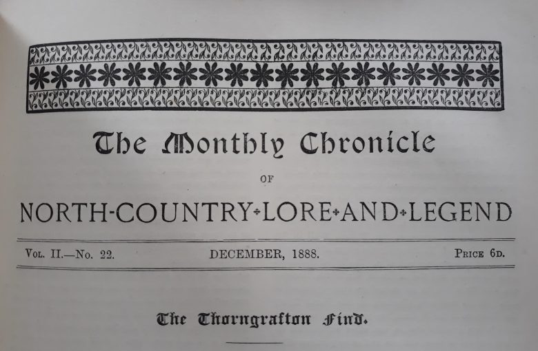 Title piece from The Newcastle Monthly Chronicle