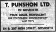 T Punshon Newsagent advert