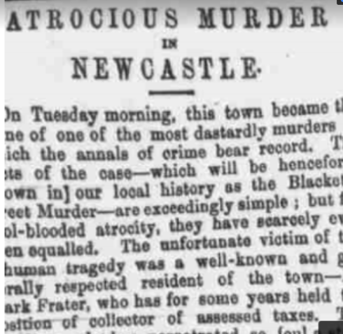 Murder Mayhem and Gosforth Newspaer cutiing