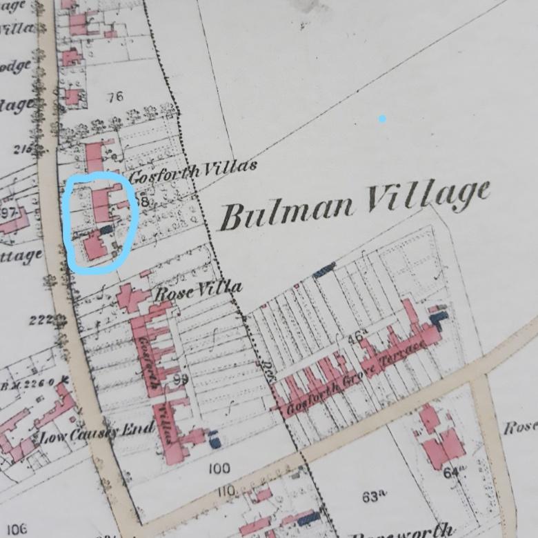 1st edition OS map Bulman Village