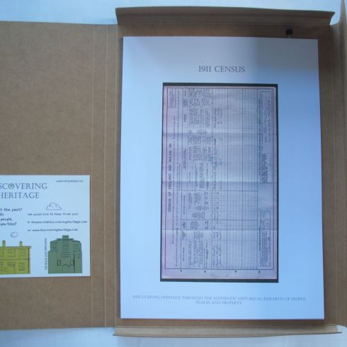 1911 census in Discovering Heritage House History pack