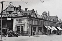 Gee Sykes & Cook Garage trading from the old Gosforth Tramways building