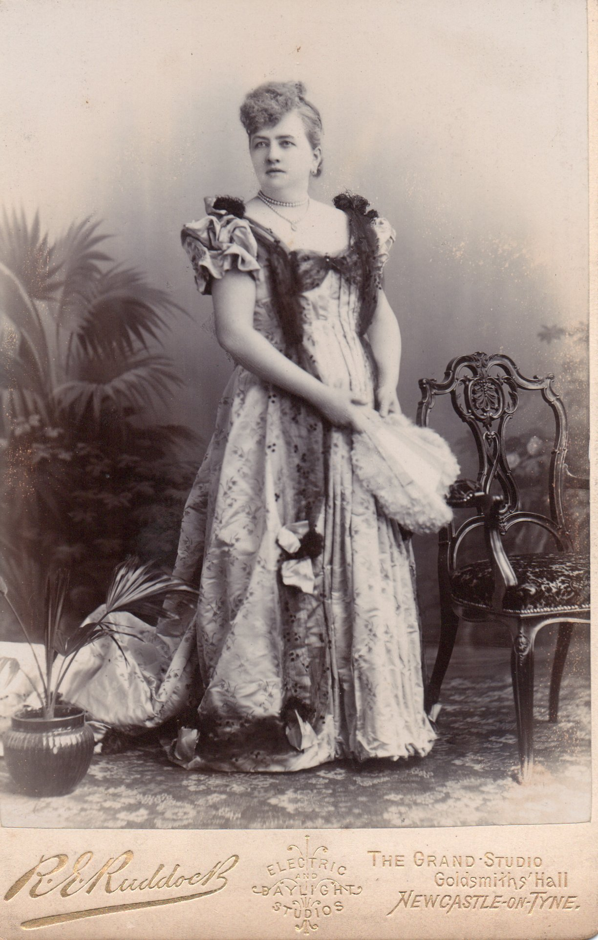 Image of Francis Gibb 1890s formal dress