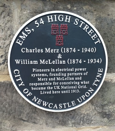 Blue Disc commemorating Charles Merz and William McLellan