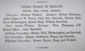 Text of Local Board of Health members 1879