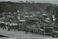 Post card of the Hoppings at Jesmond Dene