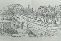 Historical Aspects of Gosforth Drawing of the entrance to Gosofrth 1880