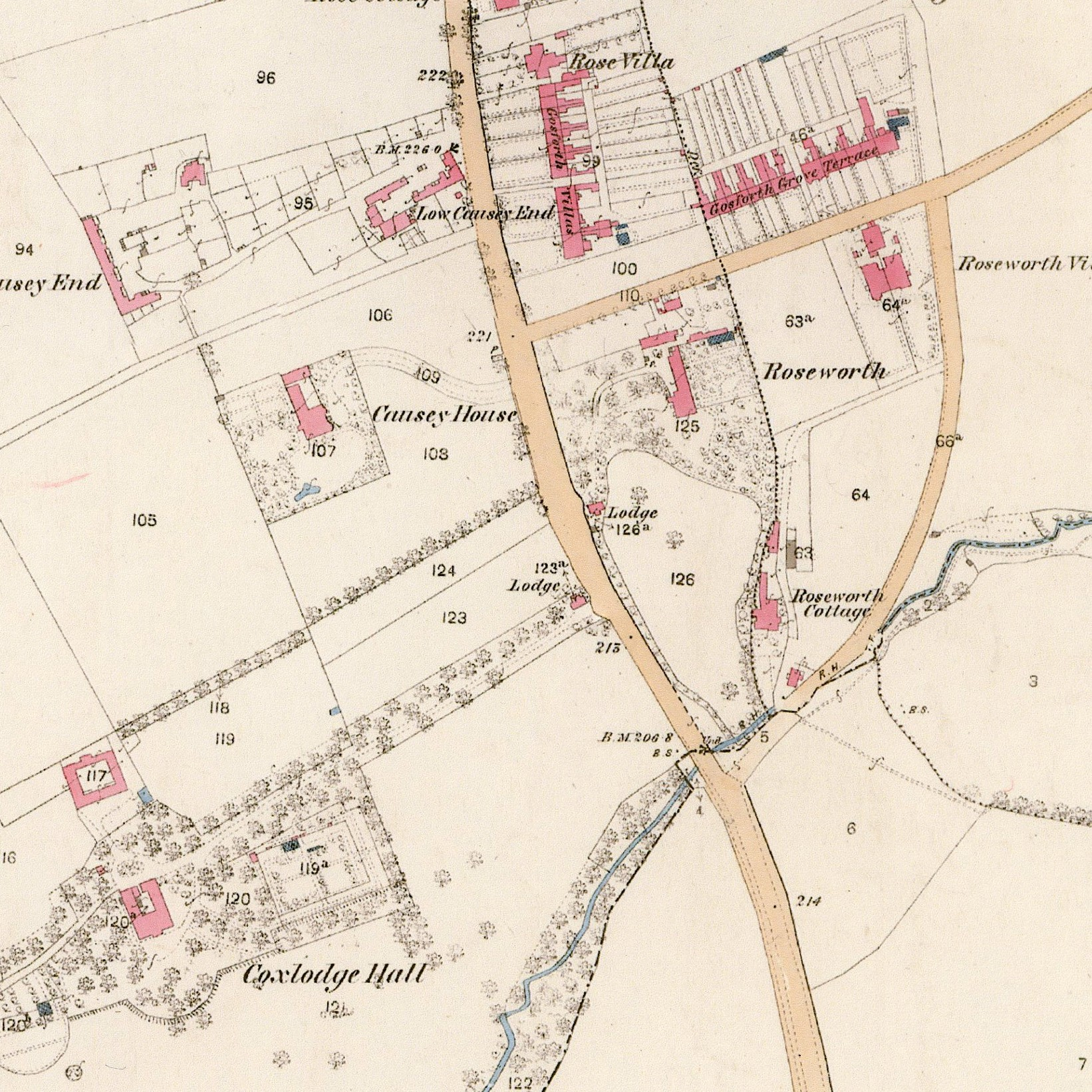 Historical Aspects of Gosforth map portion 1860