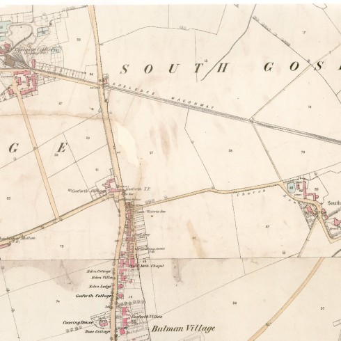 Historical Aspects of Gosforth OS map portion 1860 Coxlodge colliery