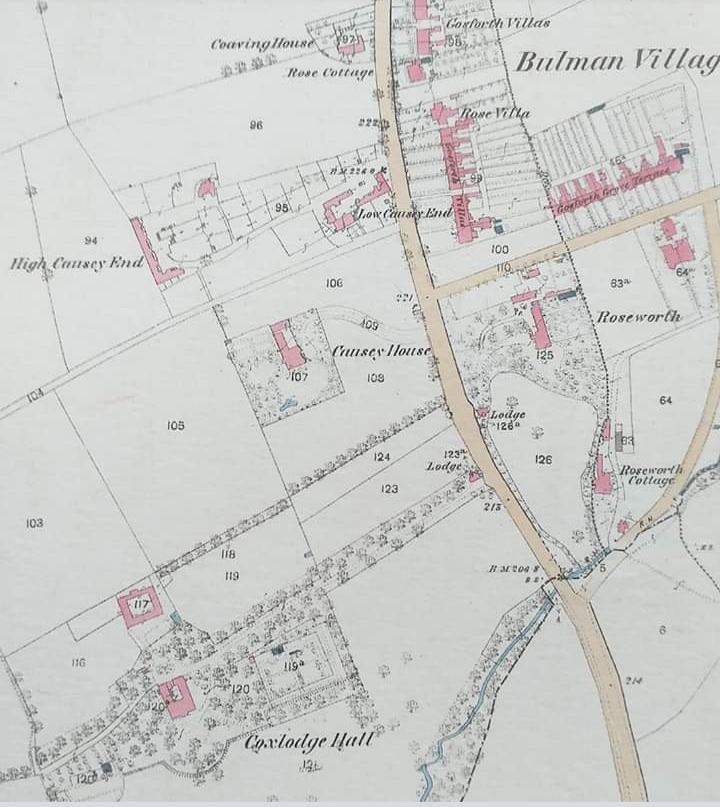 os map of Gosforth showing  Coxlidge Hall