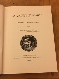 Frontpeice of Frederick Dendy's book An Account of Jesmond