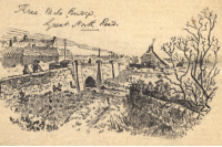 sketch of Three Mile Bridge Gosforth Discovering Heritage