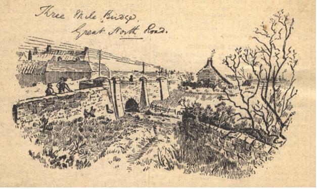 sketch of Three Mile Bridge Gosforth Discovering Heritage