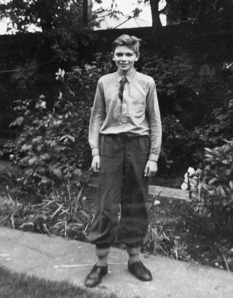 Ian Lennox Gosforth Author Spotlight in the garden aged 15
