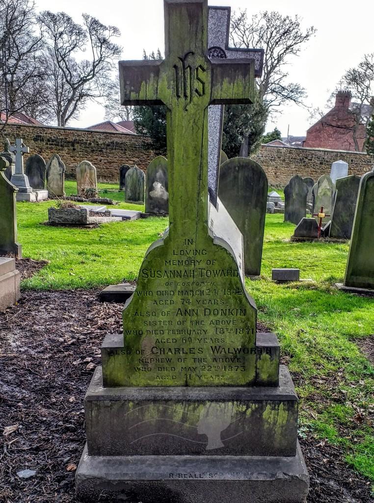 Discovering Heritage Susannah Toward Grave Stone Jesmond Cemetery