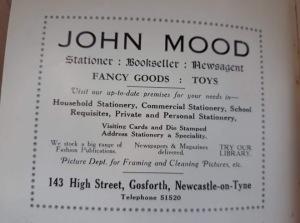 John Mood Gosforth High Street Discovering Heritage blog